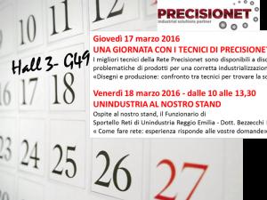 Due eventi a Mecspe per Precisionet: 17 e 18 marzo stand G49, padiglione 3