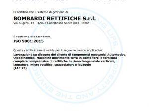 Estensione Certificazione UNI EN ISO 9001:2015